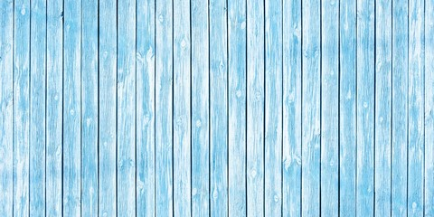 Shabby chic background of old wooden planks painted in soft blue
