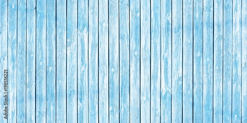 Foto-Tapete - Shabby chic background of old wooden planks painted in soft blue (von JAYANNPO)