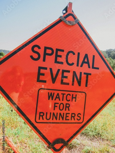 marathon event sign Wallpaper Mural