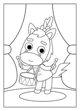 Coloring Book, Horse
