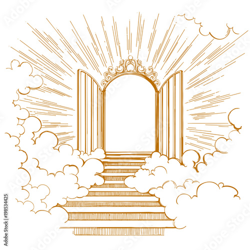 Photo Gates of Paradise, entrance to the heavenly city, meeting with God, symbol of Ch