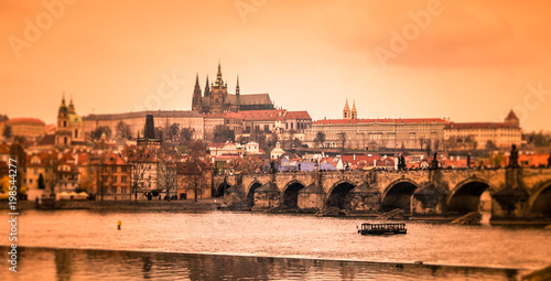Staande foto Praag Prague Castle and Charles Bridge, Prague, Czech Republic