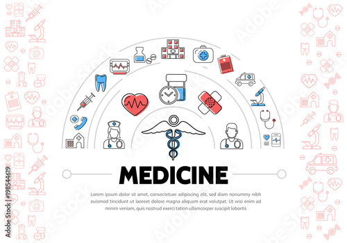 Fototapeta Medical Treatment Template obraz na płótnie