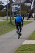 cyclist on a bikeway