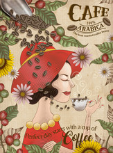 Elegant Arabica Coffee Beans Ads