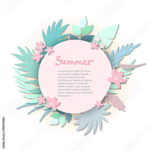 Tropical Paper Palm Leaves Round Frame Summer Tropical Leaf Origami Exotic Hawaiian Jungle Summertime Background Buy This Stock Vector And Explore Similar Vectors At Adobe Stock Adobe Stock This makes a great wedding gift, anniversary gift, housewarming gift or a special print just for yourself. adobe stock