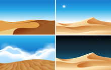 Four Background Scenes Of Dese...