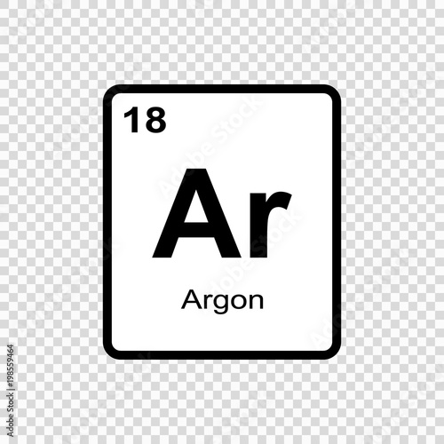 chemical element Argon Canvas Print