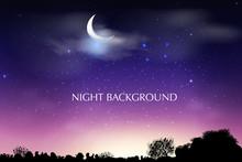 Blue Dark Night Sky Background...