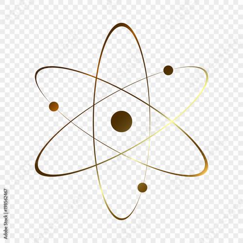 Leinwand Poster Atom icon