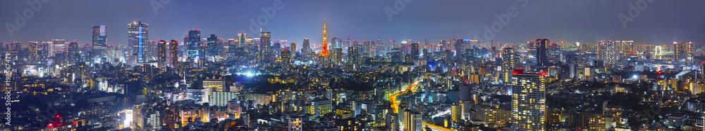 Fototapeta 東京の夜景(パノラマ)