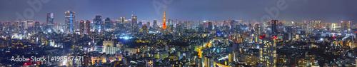 In de dag Tokio 東京の夜景(パノラマ)