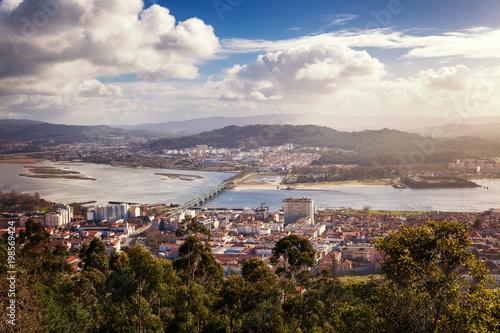 Fotografie, Obraz  Viana do Castelo, view of the city from a height, beautiful city landscape
