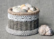 Seashells In A Basket