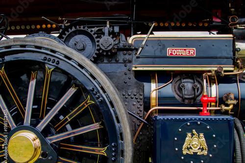 Fototapeta The mechanics of a steam engine  obraz