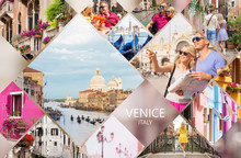 Venice Postcard, Set Of Differ...