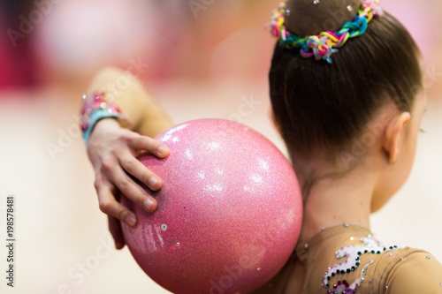 Rhythmic gymnastics competition - blurred
