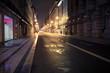 Old European city street at night