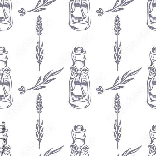 Vector Seamless Pattern Lavender Theme Of Provence Pattern With