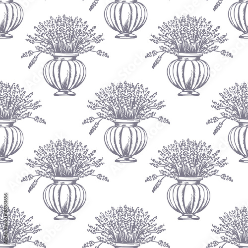Vector Seamless pattern Canvas