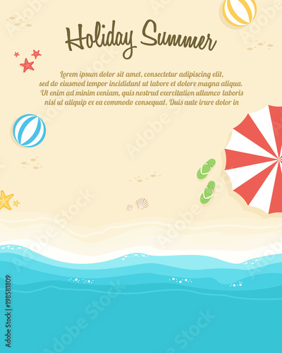 Poster of summer day collection © kongvector