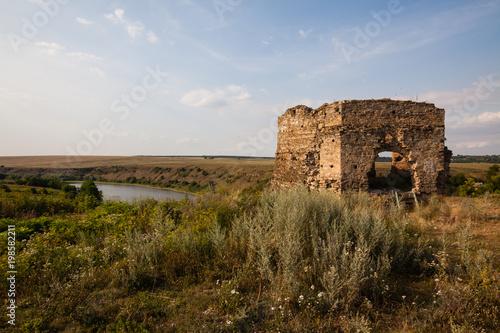 Foto op Aluminium Rudnes The ruins of Castle in Zhvanec, Khmelnytskyi Oblast, Western Ukraine.