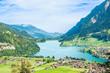 Switzerland. Lungern village in the valley.