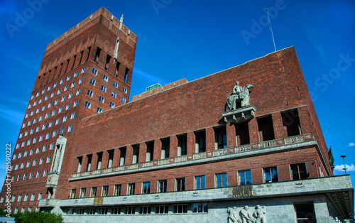 Oslo, Norway. Beautiful city architecture and colors in summer season