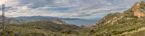 Panoramic of coast of Desert des Agriates in Corsica Slika na platnu