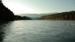 Быстрая холодная река в Сибири