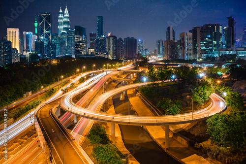 Canvas Prints Kuala Lumpur Kuala lumpur city skyline, Highway and main traffic in Kuala lumpur, Malaysia