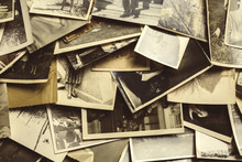 Old Photos On The Wooden Table