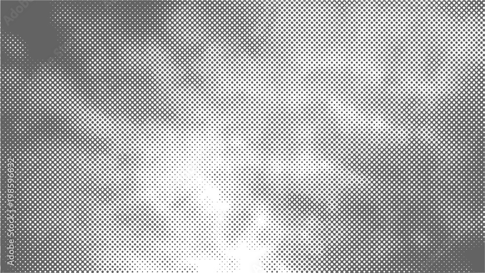 Fototapeta A halftone texture of clouds. Gray clouds. Vector illustration.