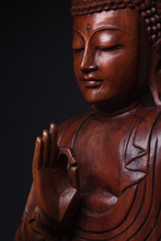 The Pacified And Obtained An Enlightenment Buddha, With The Hand Raised, As If Would Speak To Us - All Right.