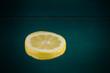 gelbe Zitronenscheibe