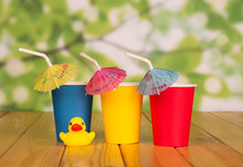 Three Colored Disposable Cups,...