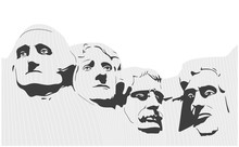 Illustration Of Mount Rushmore...