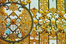 Palace Through The Golden Gates In Tsarskoe Selo, Pushkin, Russia. Toned