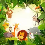 Fototapeta Fototapety na ścianę do pokoju dziecięcego - Wildlife Jungle Animals Background