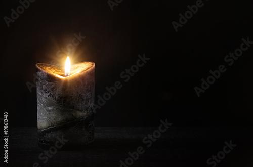 Leinwand Poster Burning candle