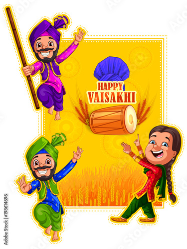 Fényképezés  Happy Vaisakhi New Year festival of Punjab India