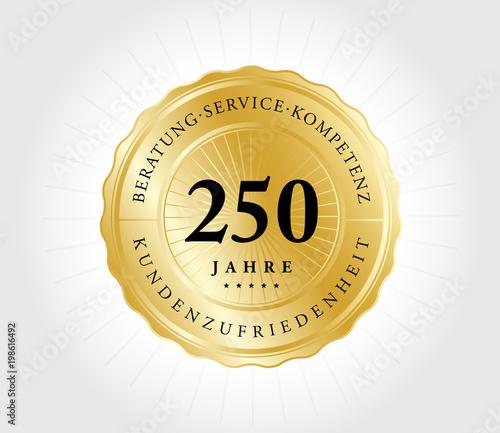 Tela  250 Jahre Kundenzufriedenheit Gold