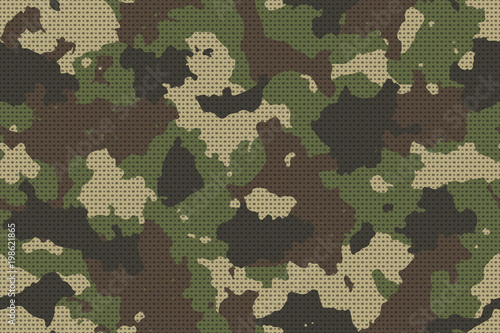 Fotografía  Camouflage seamless pattern with canvas mesh