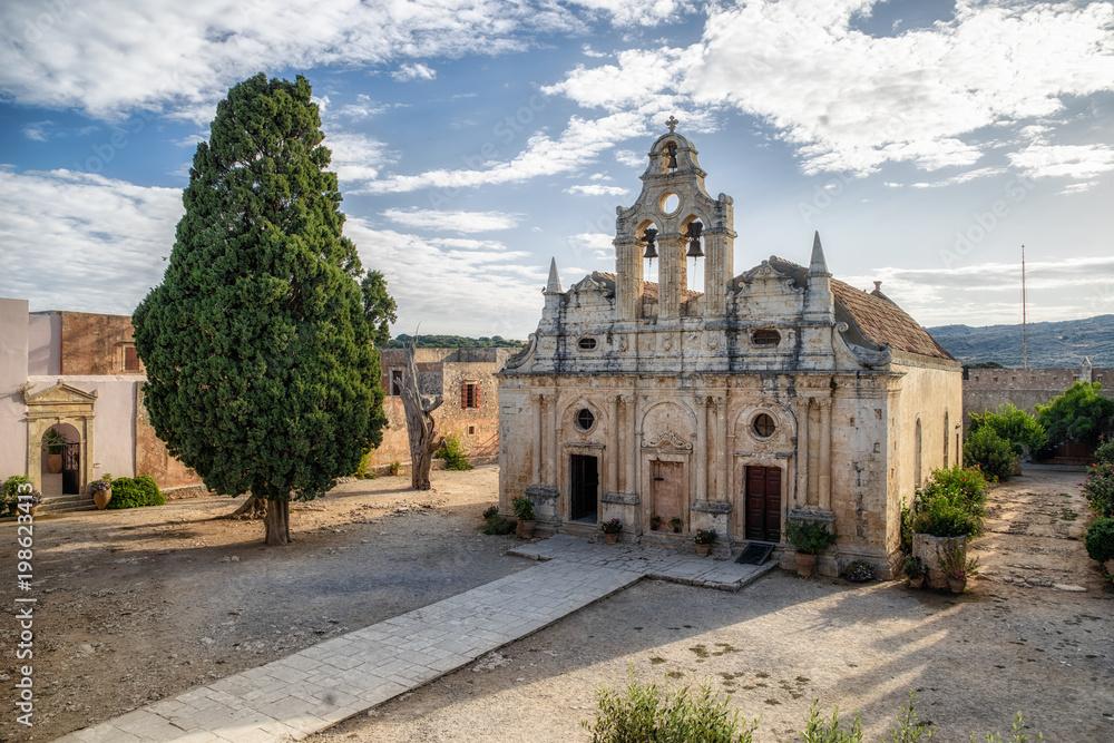 Fototapety, obrazy: Arkadi monastery at Crete island, Greece