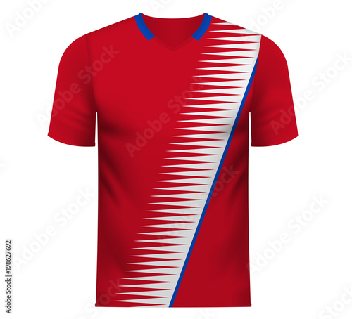 f5a242ee2b3 Fan sports tee shirt in generic colors of Costa Rica - Buy this ...