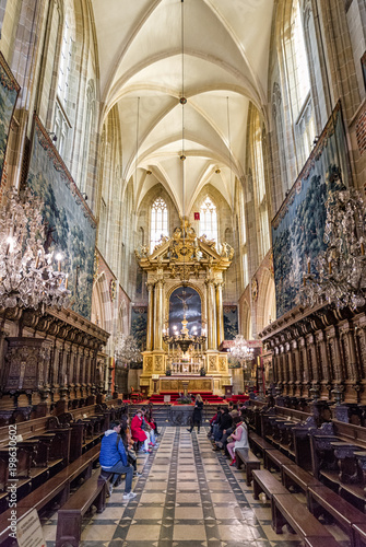 Interior of Wawel cathedral. Krakow - Poland