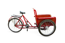Car Tricycles Red Color In Ret...