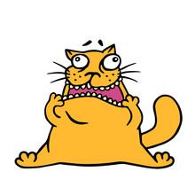 Cute Doodle Orange Cat Looks L...