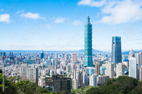 Fotomural  morning taipei city
