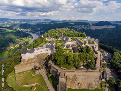 Foto  Königstadt, sächsische Schweiz, Festung Königstein